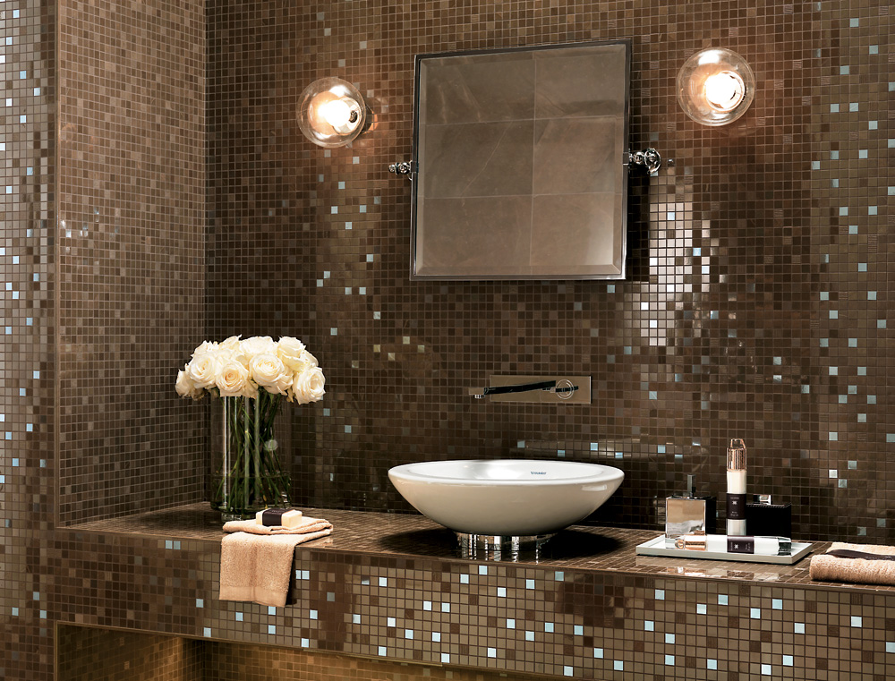 Idea gallery for Carrelage salle de bain beige et marron